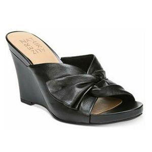 Naturalizer Breanna Wedge Sandals Black Size 12W